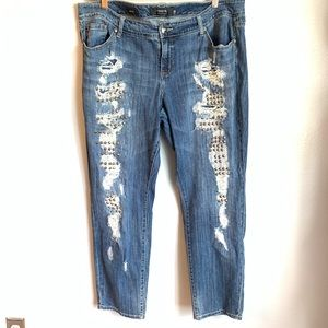 Torrid Distressed Studded Boyfriend Jeans